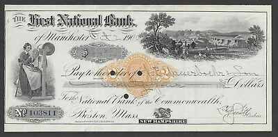 1900 Manchester New Hampshire Bank Draft RNX7