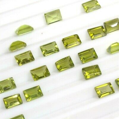 Wholesale Lot of 6x4mm Baguette Cut Natural Peridot Loose Calibrated Gemstone
