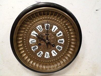 1875 Round American Made Brass Gallery Clock in French Style