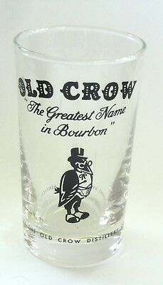Vintage Old Crow Whiskey Glass Used