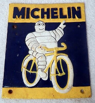 Cast iron Michelin tire sign 1937 London