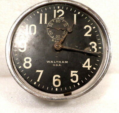 Waltham 8 Day Car Clock for Restoration or Parts