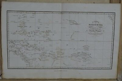 Antique Map of Polynesia ( North & South Pacific ) By W.Lizars. Dated 1822.