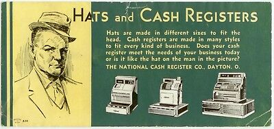 c1940 National Cash Register Co ad blotter - Dayton Ohio