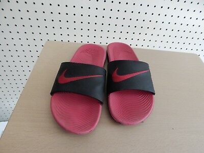 d1027ff282047 YOUTH GIRLS NIKE slides sandals - black   pink size 4Y - 819353-001 ...