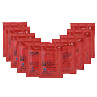10x Fermentis Saf US-05 Dry Brewing Yeast Ale Yeast 11.5g  Home Brew Sachets