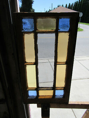 ~ Antique Stained Glass Window Queen Anne ~ 19 X 34.25  ~ Architectural Salvage