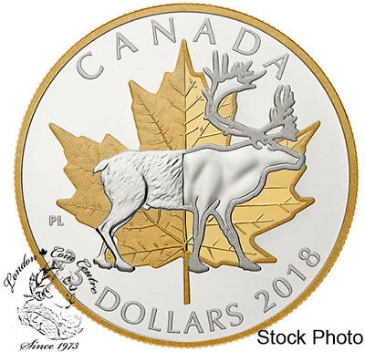 Canada 2018 $25 Piedfort Timeless Icons Caribou Fine Silver Coin