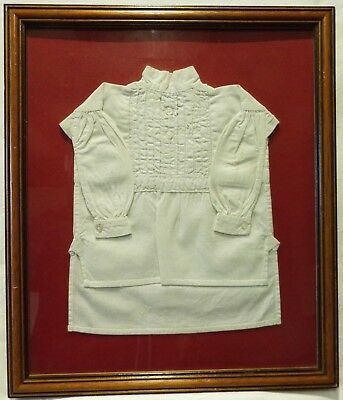Mid/late 19Th Century Miniature Cotton Shirt By Edith Louisa Manuel Aged 10 1876