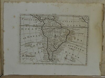 18th Century Map of South America By A.Bell. C.1790.