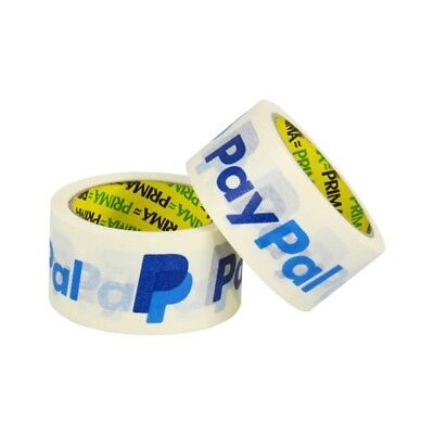 "PAYPAL 2"" (50mm) WHITE KRAFT PAPER ECO TAPE ROLLS *100% RECYCLABLE* - ALL QTY'S"