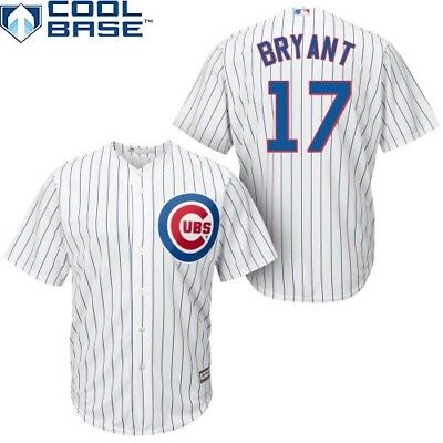 MLB Baseball Trikot Chicago Cubs Kris Bryant 17 Cool base Majestic Jersey weiß