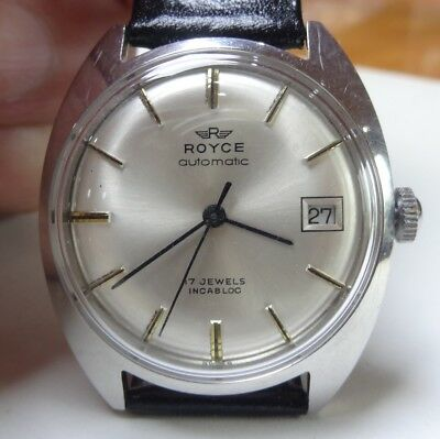 52) Royce automatique vintage, calibre AS 1903 17 rubis incabloc 1970
