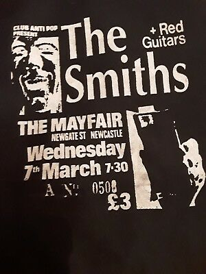 THE SMITHS T shirt Johnny Marr  Morrissey handmade retro poster design limited