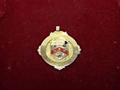 1922 Solid 9ct Gold & Enamel Medal - New Monckton Ambulance Competition - 5g