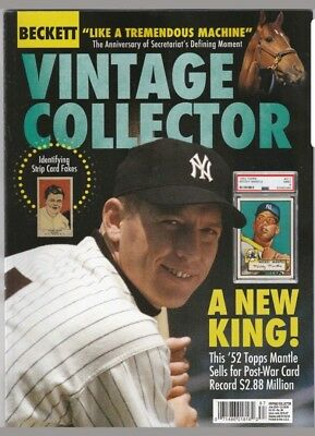 New Current Beckett Vintage Price Guide, June 2018 Mickey Mantle On Cover