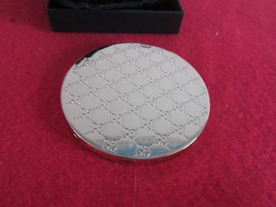 Gucci Beauty goldtone compact mirror in pouch & box. Excellent condition