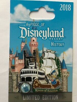 Disneyland 2018 Donald Duck Rivers of America Piece of Disney History POH LE Pin