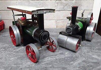 Mamod TE1A steam traction engine and Mamod Steam Roller