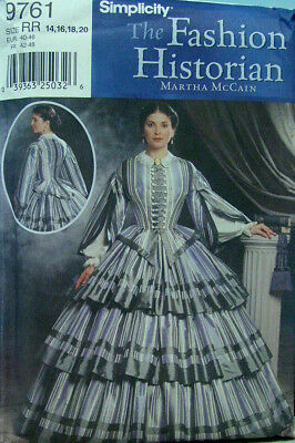 Civil War Skirt and Bodice top sewing pattern discontinued OOP  Simplicity 9761