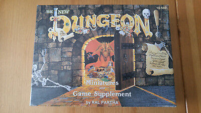 D&D The New Dungeon Miniatures Set 10-509 Ral Partha Miniatures Boxed with cards