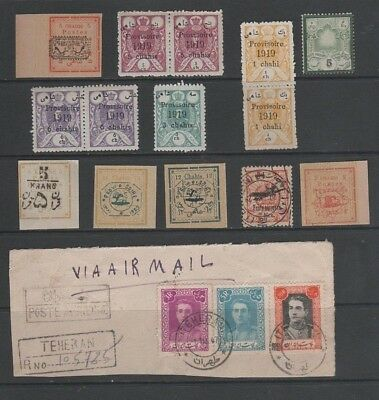 Middle EastPersia Small Collection From Old Album + 1947 Piece Teheran