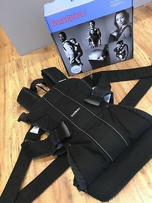 Baby Bjorn 'One' Carrier - boxed with instructions. Black
