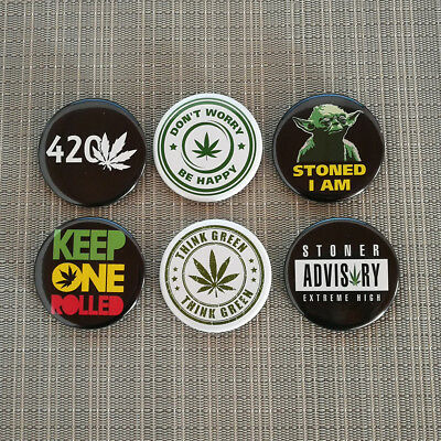 420 DAY / 4:20 TAG / 4/20 CANNABIS DAY BUTTONS / PIN / BADGE / 2.25 Inch / 56 mm