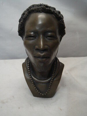 2001 Ben Apollo Gabbra Man Hollow Bronze Bust