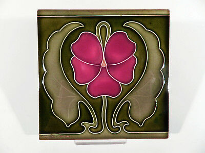 Tonindustrie OFFSTEIN Jugendstil Keramik Fliese ° Art Nouveau Pottery Tile