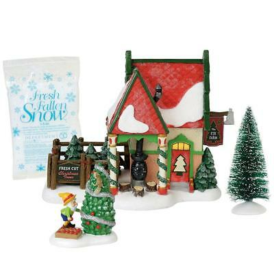 Department 56 North Pole Village New 2018 THE FIR FARM BOXED SET/4 6000618
