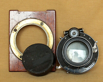 Antique f 5.4 about 210mm diameter52mm large format lens in Compound