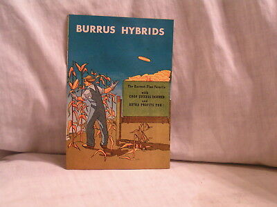 1950's Booklet For Burrus  Hybrids Seeds From Arenzville,il