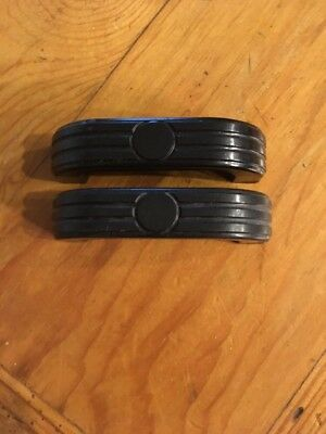 Vintage Art Deco Drawer/Cabinet Handles Black Plastic-2