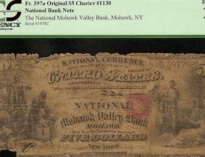 Mohawk Valley Original Series 1865 $5 Dollar National Bank Note Currency Pcgs