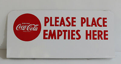 1950s Coca Cola Red Ball & Bottles Sign     Near Mint