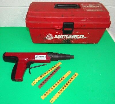 Jamerco JT-527 Powder Actuated FasteningTool Nail Gun w/ Case - Great Condition