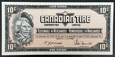 Vintage 1974 Canadian Tire 10 Cents Note ***Crisp Uncirculated*** CTC-S4-C-CN