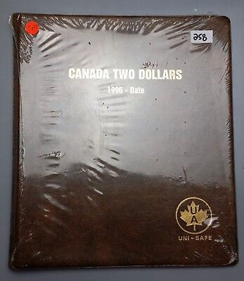 """Uni-Safe Coin Album """"Canada Two Dollars 1996 - Date"""" Toonies, Sealed Brand New"""