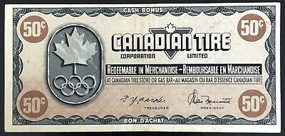 Vintage 1976 Canadian Tire 50 Cents Note ***Great Condition*** CTC-S5-E