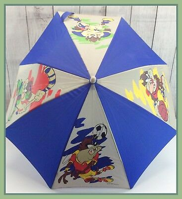 1999 Vintage Warner Bros TAZ Tasmanian Devil RARE Child's Size Rain Umbrella