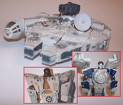 Transformers Star Wars Crossovers Millennium Falcon Han Solo & Chewbacca Figure