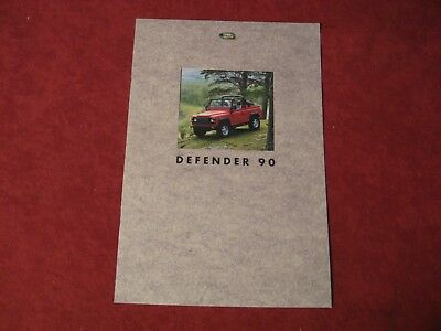 1994 Land Rover Defender 90 Showroom Dealership Brochure Old Original Booklet