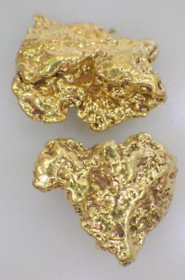 GOLD NUGGETS (2) Alaskan 3.191 GRAMS Fortymile Dist Switchfork Creek High Purity
