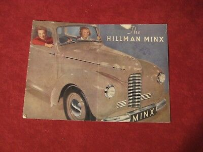 1948 Hillman Minx Original Showroom Dealership Brochure Salesman Old