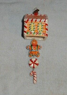 Christopher Radko For Target Gingerbread House Ceramic Christmas Ornament