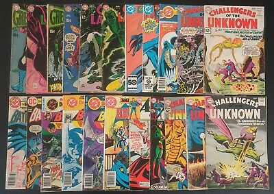 Lot of 22 Silver Bronze Age DC Comics ACTION BATMAN CHALLENGERS GREEN LANTERN ++