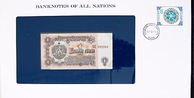 Bulgaria - 1974 - One Lev - P93 -  Cu - Banknotes Of All Nations 7227