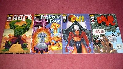 WIZARD ACE EDITION lot - 4 bks, Hulk 1, FF 48, Shi 4, Bone 1 (New and Mint) NR!