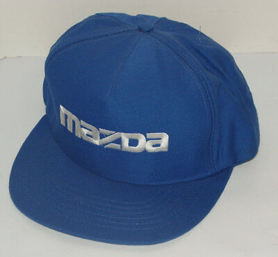 Vintage Blue Mazda Snapback Cap/Hat! Embroidered! Made In Usa!